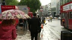 Double Decker Bus, London, Rain - stock footage