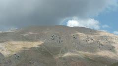Mountain sky clouds panorama Stock Footage