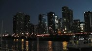CHICAGO-0657 DUSK SKYLINE TIMELAPSE Stock Footage