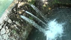 Water pouring in three streams Stock Footage