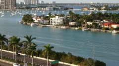 Sailboats in Miami, aerial 7 Stock Footage