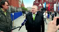 Stock Video Footage of V.Zhirinovsky speak about russian and ally human loss at WWII and lend-lease,