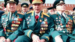 Veteran general Linik V.G. speak about war at background of kremlin wall Stock Footage