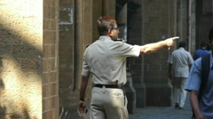 Guard man Stock Footage