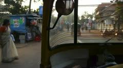 Trip with rickshaw - stock footage