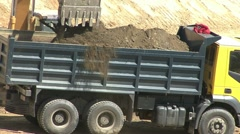 Excavation Vehicle and Truck Stock Footage
