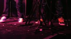 Pop rock stars sneakers Stock Footage