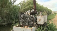 Water pump for irrigation farm Stock Footage