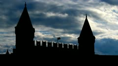 Turkey Topkapi Palace clouds Stock Footage