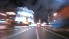Clouds are visible in evening above flow of cars which goes quickly on highway Stock Footage