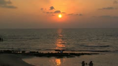 125 Sunset in Michmoret beach Israel time lapse - stock footage