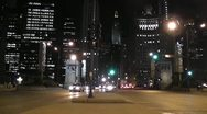 CHICAGO-0700 NIGHT INTERSECTION TIMELAPSE Stock Footage