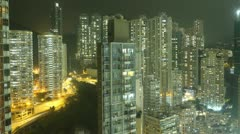 Time Lapse Hong Kong at Night Stock Footage