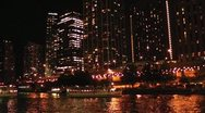CHICAGO-0711 TIMELAPSE NIGHT ON THE RIVER Stock Footage