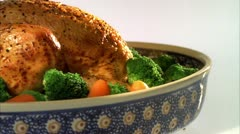FOOD CHICKEN VEG 01 Stock Footage