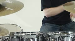 Man drumming - stock footage