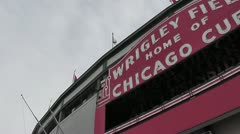 CHICAGO-0725 WRIGLEY FIELD CUBS BASEBALL Stock Footage