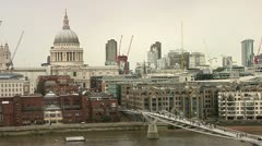St. Paul's Cathedral, The Thames Stock Footage