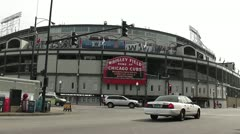 CHICAGO-0729 WRIGLEY FIELD CUBS BASEBALL Stock Footage