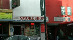 Smoke shop Stock Footage