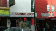 Stock Video Footage of smoke shop