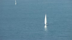 Sailboats on the Sea Stock Footage