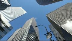 Skyscraper office buildings NYC New York City Manhattan citibank pan corporate - stock footage