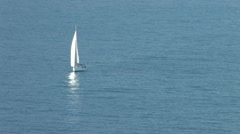 Sailboat on the Sea Stock Footage