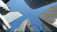 Skyscraper office buildings NYC New York City Manhattan citibank 25P PAL Stock Footage