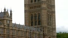 Victoria Tower and the Palace of Westminster - stock footage