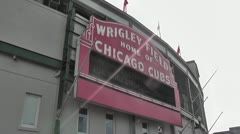 CHICAGO-0742 WRIGLEY FIELD CUBS BASEBALL Stock Footage