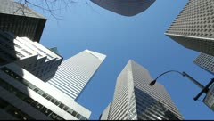 Skyscraper office buildings NYC New York City Manhattan citibank pan 24P Stock Footage