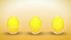 Brilliant Easter eggs Stock Footage