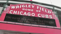 CHICAGO-0745 WRIGLEY FIELD CUBS BASEBALL Stock Footage