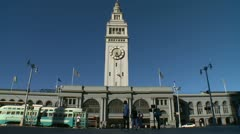 Stock Video Footage of San Francisco Ferry Building Streetcar  02 HD