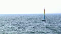 076 SAIL BOAT CAESAREA BEACH Stock Footage