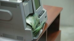 Stock Video Footage of Money Counting Machine