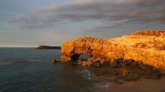 Ocean coast near Robe town, South Australia Stock Footage