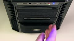 Disc Drive 1 Stock Footage