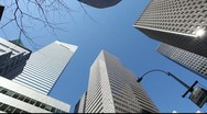 Stock Video Footage of Tall high buildings skyscrapers offic New York City NY citibank