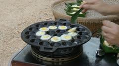 Quail eggs Stock Footage
