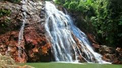 Na Muang 1 waterfall, koh Samui, Thailand Stock Footage