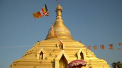 golden pagoda - stock footage