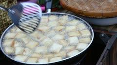 Pork fried bread Stock Footage