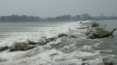 Stock Video Footage of flood and dam