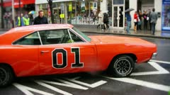 Dukes of hazard Dodge Charger car Stock Footage