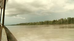 Shipping on River in Rainforest (Amazon, Peru) - stock footage