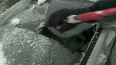 Scraping Windshield 02 - stock footage