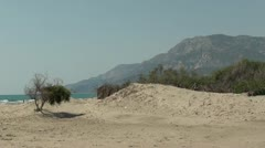 Quiet natural beach Stock Footage