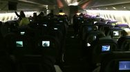 Stock Video Footage of Seat back video screens A380